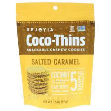 Sejoyia Foods, Coco-Thins, <b>Печенье</b>-закуска с <b>Кешью</b>, Соленая ...