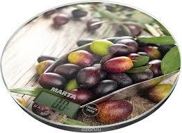 <b>Кухонные весы Marta MT-1635</b> Черная олива — купить в ...