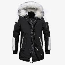 Теплая Верхняя одежда Зима мужчин Parkas бархат толстые ...