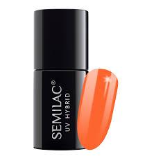 Semilac 045 <b>Electric</b> Orange <b>UV Gel Polish</b> 7 ml | FlowertushBeauty