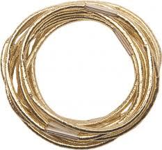 <b>Резинки для</b> волос золотистые, midi (10 шт) <b>DEWAL</b> RE042 ...