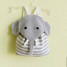 Купить Рюкзак <b>слоник</b> - <b>белый</b>, в полоску, рюкзак ручной работы ...