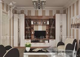 """<b>Гостиная</b> """"<b>Венеция</b>"""" - Коллекция готовых решений :: BTS мебель ..."""