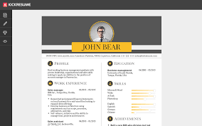 kickresume   perfect resume and cover letter are just a click awayresume