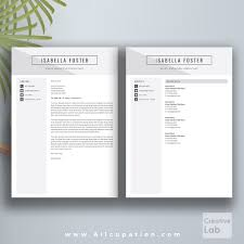 creative resume template cv template cover letter 1 2 3 page allcupation professional resume template cv template 1 2 and 3 page resume