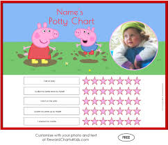 peppa pig potty training charts