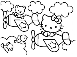 impressive printable hello kitty coloring pages
