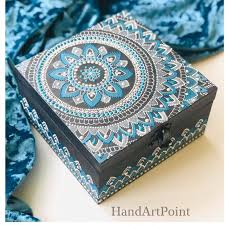 Decorative box. Jewelry box. Decorative <b>storage box</b>. <b>Handpainted</b> ...
