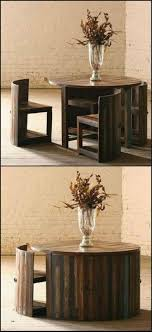 saving furniture. hereu0027s a great space saving table made from reclaimed teak the chairs are fitted with furniture