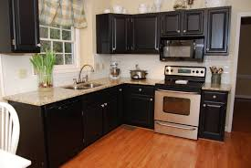 kitchen cabinets with granite countertops: picture of black small kitchen cabinets with granite countertops