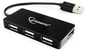 Купить <b>USB</b>-<b>концентратор Gembird</b> UHB-U2P4-03, разъемов: <b>4</b> в ...