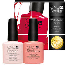 <b>CND Shellac UV</b> Nail Polish 7.3 ml TopSeller Duo Beau + Salmon ...