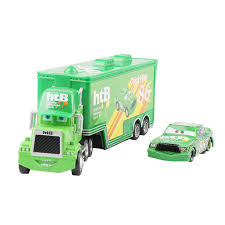Disney Pixar <b>Cars</b> 2 <b>Toys 2pcs</b> Lightning McQueen Mack Truck ...