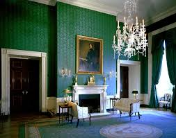 white house rooms blue green red rooms blue room white