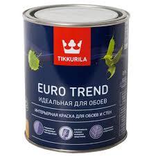 <b>Краска в/д</b> для стен и <b>обоев</b> EURO TREND база-А матовая (0,9л ...