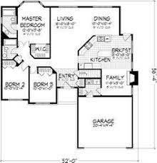 Bedroom House Plans With Attached Garage   Home Plans     bedroom house plans   attached garage  Floor plans Pinterest Ranch House Plans  Traditional House Plans