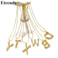 2019 <b>New Big Letter Necklace</b> Women Statement Gold Color ...