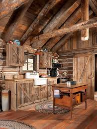 cabinets uk cabis: gorgeous rustic log cabin kitchen from off grid world