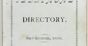 「1878 – The first telephone directory is issued in New Haven, Connecticut.」の画像検索結果