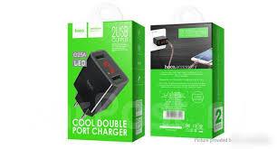 Сетевое <b>зарядное устройство Hoco C25A</b> 2.2A 2 USB Индикатор ...
