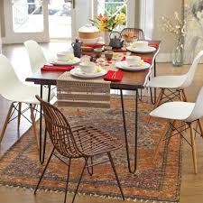 hardware dining table exclusive: wood flynn hairpin dining table rollover to zoom click to view larger
