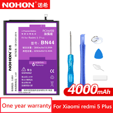 <b>NOHON</b> BN35 BN44 <b>Mobile Phone Battery</b> For Xiaomi Redmi 5 Plus ...