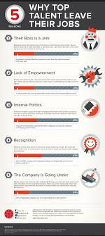 best images about job info graphics facebook the top 5 reasons top talent leave their jobs