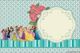 all disney princess printable invitations is it for printable invitation card or photo frame