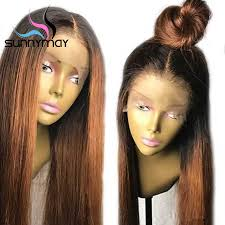 <b>Sunnymay 13x4</b> Bob 1b <b>Ombre</b> Color Lace Front Human Hair Wigs ...