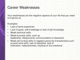 list employee weaknesses Principals Of Success For Job Hunting And Career Development ... 47. Strengths List