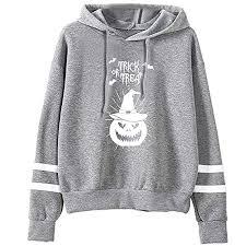 Highpot Women <b>Halloween Pumpkin Print</b> Hoodies Pullover ...