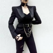 PU Leather Link Chains <b>Wide</b> Waist Belt <b>Goth Punk</b> Metal Rivet <b>Big</b> ...