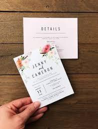 THE BIANCA boho wedding invitation <b>dusty pink peach</b> feather ...