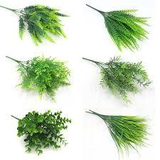YO CHO Fake Plants Fern Grass Wedding Wall Outdoor Decor ...