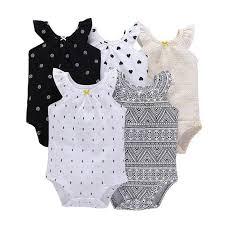 <b>5 Pieces</b>/<b>Lot Baby Bodysuit</b> Infant Jumpsuit Overall Short Sleeve ...