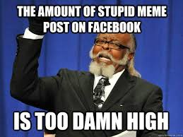 the amount of stupid meme post on facebook IS too damn high - I am ... via Relatably.com