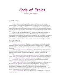 personal code of ethics paper buy it now get bonus coronetpublications net
