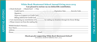 donation cards template template donation cards template