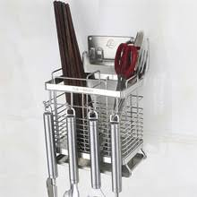 Stainless Steel <b>Wall Mounted</b> Kitchen <b>Racks Chopsticks Cage</b> Tube ...