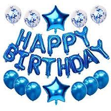 Haimimall Happy Birthday Balloons Set Blue-13pcs ... - Amazon.com