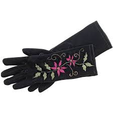 Embroidered <b>Velvet</b> Poinsettia <b>Gloves</b> - NorthStyle Women's Fashions