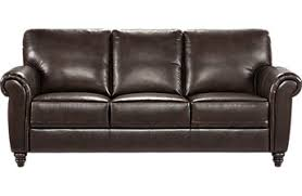 cindy crawford home lusso coffee bean leather sofa black leather sofa