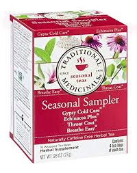 Traditional Medicinals <b>Seasonal Tea</b> Sampler <b>Variety</b> Pack 16 ea ...