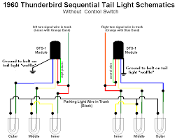 squarebirds sequential turn signals on a 1960 thunderbird wiring diagram out control switch brake lights will sequence once then remain steady