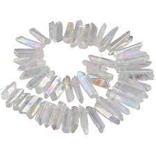 Amazon.com: SUNYIK Angel Aura <b>Titanium Coated Crystal Points</b> ...
