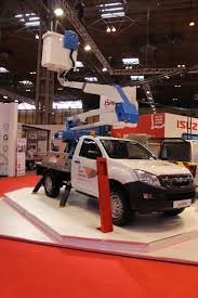 isuzu cherry picker at the cv show commercial vehicle dealer isuzu cherry picker at the cv show 2016