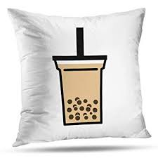 Decorativepillows 18 x 18 inch Throw Pillow Covers,<b>Bubble Boba</b> ...