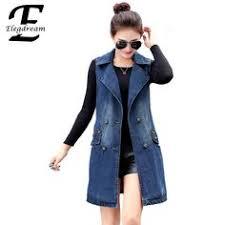 Elegdream Brand <b>2017 Autumn Vintage Women</b> Jeans Vest Casual ...