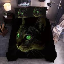 3D <b>Cat Printing</b> Bedding Set Animal Duvet Cover Pillowcase Set ...