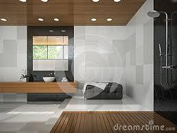 Soffitto In Legno Grigio : Interno del bagno con il soffitto di legno foto stock u